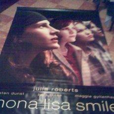 Cine: BANDEROLA GIGANTE DE 'LA SONRISA DE MONA LISA', EN INGLÉS. TELA DE PVC LAVABLE. 1,50 X 2,40 M.. Lote 23373591