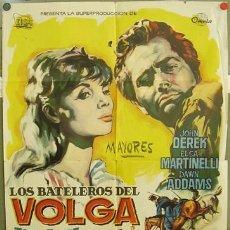 Cine: T02926 LOS BATELEROS DEL VOLGA JOHN DEREK ELSA MARTINELLI RUM POSTER ORIGINAL ESPAÑOL 70X100 ESTRENO. Lote 5331428