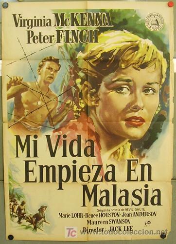 T02927 MI VIDA EMPIEZA EN MALASIA VIRGINIA MCKENNA PETER FINCH POSTER ORIGINAL 70X100 ESTRENO (Cine - Posters y Carteles - Aventura)