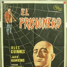 Cine: T03037 EL PRISIONERO ALEC GUINNESS POSTER ORIGINAL 70X100 ESTRENO. Lote 7496053