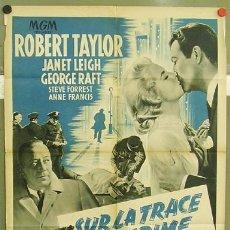 Cine: T03015 PRISIONERO DE SU TRAICION ROBERT TAYLOR JANET LEIGH POSTER ORIGINAL FRANCES 60X80 LITOGRAFIA. Lote 10607008