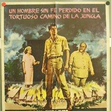 Cine: T03021 CAMINO DE LA JUNGLA ROCK HUDSON GENA ROWLANDS POSTER ORIGINAL ESPAÑOL 70X100 DE ESTRENO. Lote 7903454