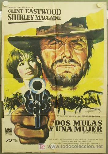 T03078 Dos Mulas Y Una Mujer Clint Eastwood Shi Buy Western Film Posters At Todocoleccion 5345803