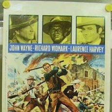 Cine: T03049 EL ALAMO JOHN WAYNE TODD-AO POSTER ORIGINAL 33X70 ITALIANO. Lote 15631699