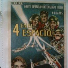 Cine: CARTEL ORIGINAL DE CINE AÑOS 60: 4 EN EL ESPACIO. TAMAÑO APROX. 14 X 10 CM . Lote 5324887