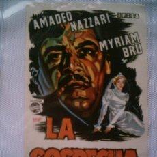 Cine: CARTEL ORIGINAL DE CINE AÑOS 60: LA SOSPECHA. TAMAÑO APROX. 14 X 10 CM . Lote 5324960