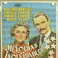 Cine: T03108 MELODIAS INOLVIDABLES MARIA ELENA MARQUES RAMBAL POSTER ORIGINAL 70X100 ESTRENO LITOGRAFIA. Lote 5354772