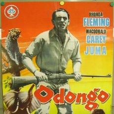 Cine: T03149 ODONGO RHONDA FLEMING MACDONALD CAREY POSTER ORIGINAL 70X100 DE ESTRENO. Lote 10798657