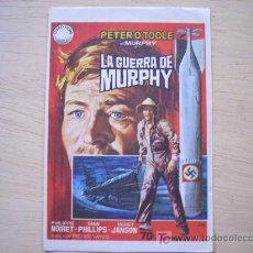 Cine: CARTEL ORIGINAL DE CINE AÑOS 60: LA GUERRA DE MURPHY. TAMAÑO APROX. 14 X 10 CM . Lote 5379248