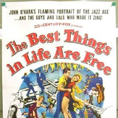 Cine: T03536 THE BEST THINGS IN LIFE ARE FREE GORDON MACRAE DAN DAILEY POSTER ORIGINAL USA 70X105. Lote 5423822