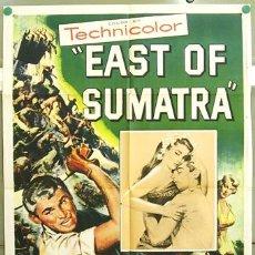 Cine: XG64D EAST OF SUMATRA JEFF CHANDLER BUDD BOETTICHER MARILYN MAXWELL POSTER ORIGINAL USA 70X105. Lote 7562304