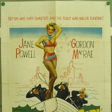 Cine: ZC57D 3 SAILORS AND A GIRL JANE POWELL GORDON MACRAE POSTER ORIGINAL USA 70X105. Lote 5431574
