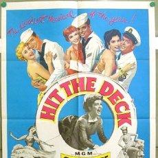 Cine: T03553 HIT THE DECK DEBBIE REYNOLDS JANE POWELL POSTER ORIGINAL USA 70X105. Lote 5424296