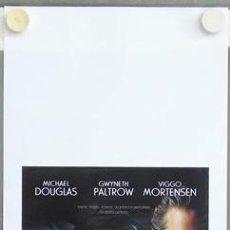 Cine: T03788 UN CRIMEN PERFECTO GWYNETH PALTROW MICHAEL DOUGLAS POSTER ORIGINAL ITALIANO 33X70. Lote 5515401