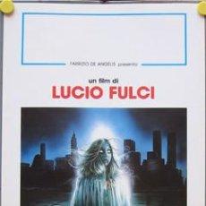 Cine: YG84D MANHATTAN BABY LUCIO FULCI GORE POSTER ORIGINAL ITALIANO 33X70. Lote 10875931