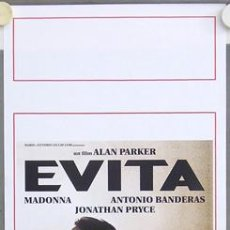 Cine: T03694 EVITA MADONNA ANTONIO BANDERAS ALAN PARKER POSTER ORIGINAL ITALIANO 33X70. Lote 5511925