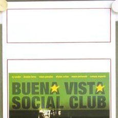 Cine: T03704 BUENA VISTA SOCIAL CLUB WIM WENDERS POSTER ORIGINAL ITALIANO 33X70. Lote 5515046