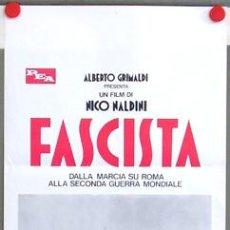 Cine: T03798 FASCISTA BENITO MUSSOLINI POSTER ORIGINAL ITALIANO 33X70. Lote 5515525