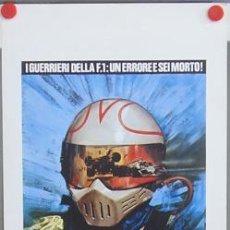 Cine: T03806 POLE POSITION GUERREROS DE LA FORMULA 1 GRAND PRIX POSTER ORIGINAL ITALIANO 33X70. Lote 5517680