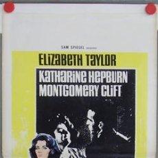 Cine: YE12D DE REPENTE EL ULTIMO VERANO ELIZABETH TAYLOR HEPBURN CLIFT POSTER ORIGINAL ITALIANO 33X70. Lote 5517698