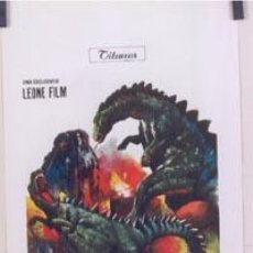 Cine: T03879 GODZILLA VS THE SMOG MONSTER TOHO POSTER ORIGINAL ITALIANO 33X70. Lote 11574953
