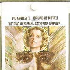 Cine: T03915 ALMA PERDIDA VITTORIO GASSMAN CATHERINE DENEUVE POSTER ORIGINAL ITALIANO 33X70. Lote 5526788