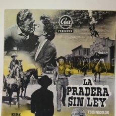 Cine: LA PRADERA SIN LEY CARTEL DE JANO. Lote 5579887