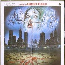 Cine: T03930 MANHATTAN BABY LUCIO FULCI GORE POSTER ORIGINAL ITALIANO 100X140. Lote 16898479