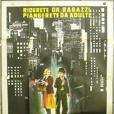 Cine: QM46D LUCES DE LA CIUDAD CITY LIGHTS CHARLES CHAPLIN POSTER GIGANTE 140X200 ITALIANO. Lote 8020942