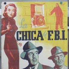 Cine: ZQ04D LA CHICA DEL FBI AUDREY TOTTER CESAR ROMERO POSTER ORIGINAL 70X100 ESTRENO LITOGRAFIA. Lote 13565847