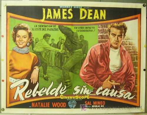 E1537D REBELDE SIN CAUSA JAMES DEAN NATALIE WOOD POSTER ORIG ARGENTINO 147X110 ENTELADO LITOGRAFIA (Cine- Posters y Carteles - Drama)