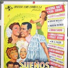 Cine: E2058D SUEÑOS DE GLORIA CARMEN AMAYA MARLENE DIETRICH MACDONALD POSTER ORIG ESPAÑOL 70X100 ENTELADO. Lote 9896729