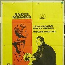 Cine: T04010 LOS DESCARRIADOS ANGEL MAGAÑA RARO POSTER ORIGINAL ESTRENO 70X100. Lote 5937486