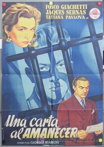 T04058 UNA CARTA AL AMANECER JACQUES SERNAS SOLIGO POSTER ORIGINAL 70X100 ESTRENO LITOGRAFIA (Cine- Posters y Carteles - Drama)