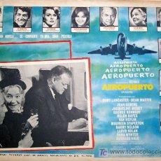 Cine: BURT LANCASTER - DEAN MARTIN - JEAN SEBERG - VAN HEFLIN - AEROPUERTO - ORIGINAL MEXICAN LOBBY CARD. Lote 12934635