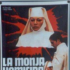 Cine: T04099 LA MONJA HOMICIDA ANITA EKBERG JOE D'ALLESANDRO POSTER ORIGINAL 70X100 ESTRENO. Lote 6016141