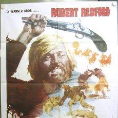 Cine: TB54 LAS AVENTURAS DE JEREMIAH JOHNSON ROBERT REDFORD POSTER ORIGINAL ITALIANO 100X140. Lote 6017217