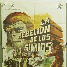 Cine: XD59D LA REBELION DE LOS SIMIOS CONQUEST OF PLANET OF THE APES MONTALBAN POSTER ORIG ESTRENO 70X100. Lote 6050798