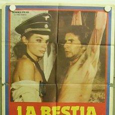 Cine: T04199 LA BESTIA EN CALOR NAZIEXPLOITATION POSTER ORIGINAL ESTRENO 70X100. Lote 9869328
