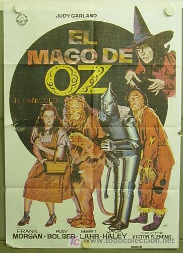 T04228 EL MAGO DE OZ JUDY GARLAND POSTER ORIGINAL 70X100 ESPAÑOL R-82 (Cine - Posters y Carteles - Musicales)