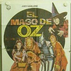 Cine: T04228 EL MAGO DE OZ JUDY GARLAND POSTER ORIGINAL 70X100 ESPAÑOL R-82. Lote 8558260
