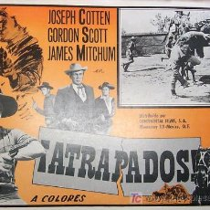 Cine: WESTERN - GORDON SCOTT - JOSEPH COTTEN - ATRAPADOS - JAMES MITCHUM - ORIGINAL MEXICAN LOBBY CARD . Lote 39253486