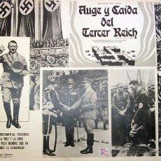 Cine: ADOLPH HITLER - AUGE Y CAIDA DEL TERCER REICH - ORIGINAL MEXICAN LOBBY CARD. Lote 12989914