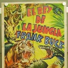 Cine: T04306 EL REY DE LA JUNGLA FRANK BUCK POSTER ORIGINAL 70X100 ESTRENO LITOGRAFIA. Lote 6079863