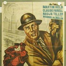 Cine: T04307 GIMPEL MAESTRO DE ESPIAS MARTINE HELD NADJA TILLER POSTER ORIGINAL 70X100 ESTRENO. Lote 6080678