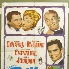 Cine: T04316 CAN CAN FRANK SINATRA SHIRLEY MACLAINE MAURICE CHEVALIER POSTER ORIGINAL USA 70X105. Lote 11487640