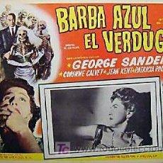 Cine: GEORGE SANDERS - BARBA AZUL EL VERDUGO - CORINNE CALVET - LANDRU - ORIGINAL MEXICAN LOBBY CARD. Lote 13003915