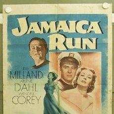 Cine: ZC69D LA CASA GRANDE DE JAMAICA RAY MILLAND ARLENE DAHL POSTER ORIGINAL USA 70X105. Lote 6102451