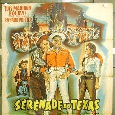Cine: T04368 LUIS MARIANO BOURVIL SERENADE AU TEXAS POSTER ORIGINAL 120X160 FRANCES. Lote 8558398