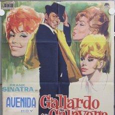 Cine: T04388 GALLARDO Y CALAVERA FRANK SINATRA POSTER ORIGINAL 70X100 ESTRENO. Lote 6103166